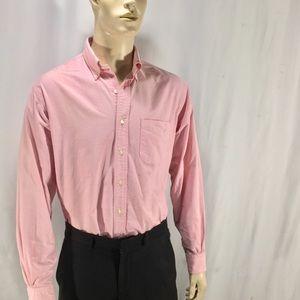 Brooks Brothers Reg Fit Button Up Dress Shirt 16.5